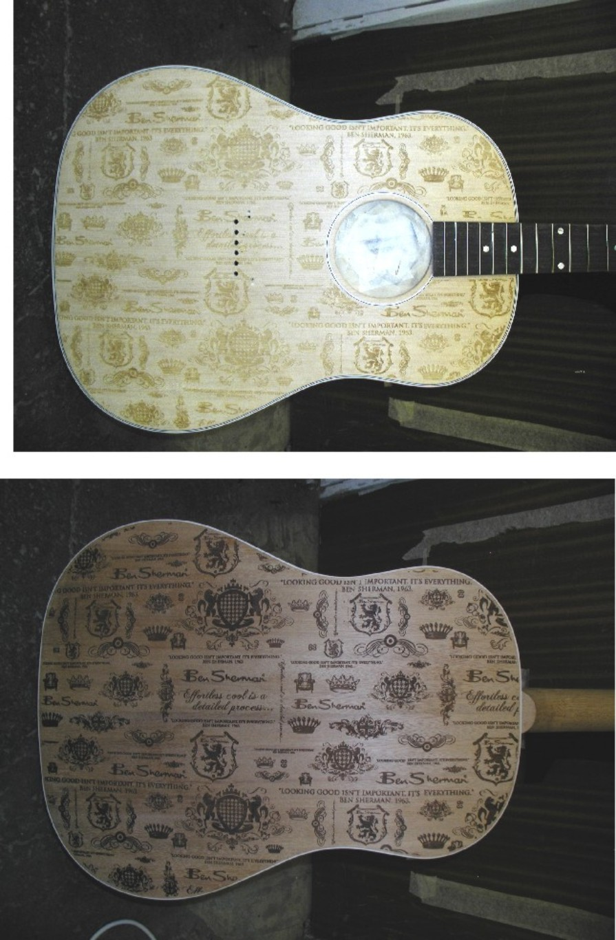 Laser engraved Gibson for Ben Sherman