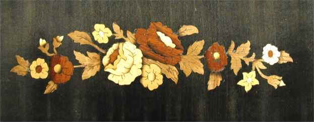 floral marquetry strip