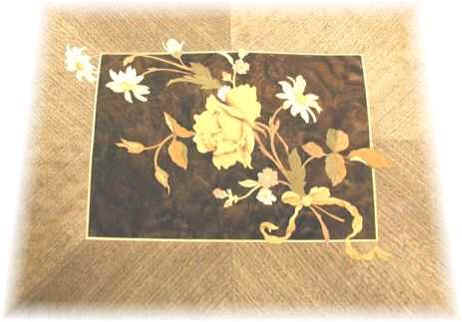 Hand Sawn Floral Marquetry Panel