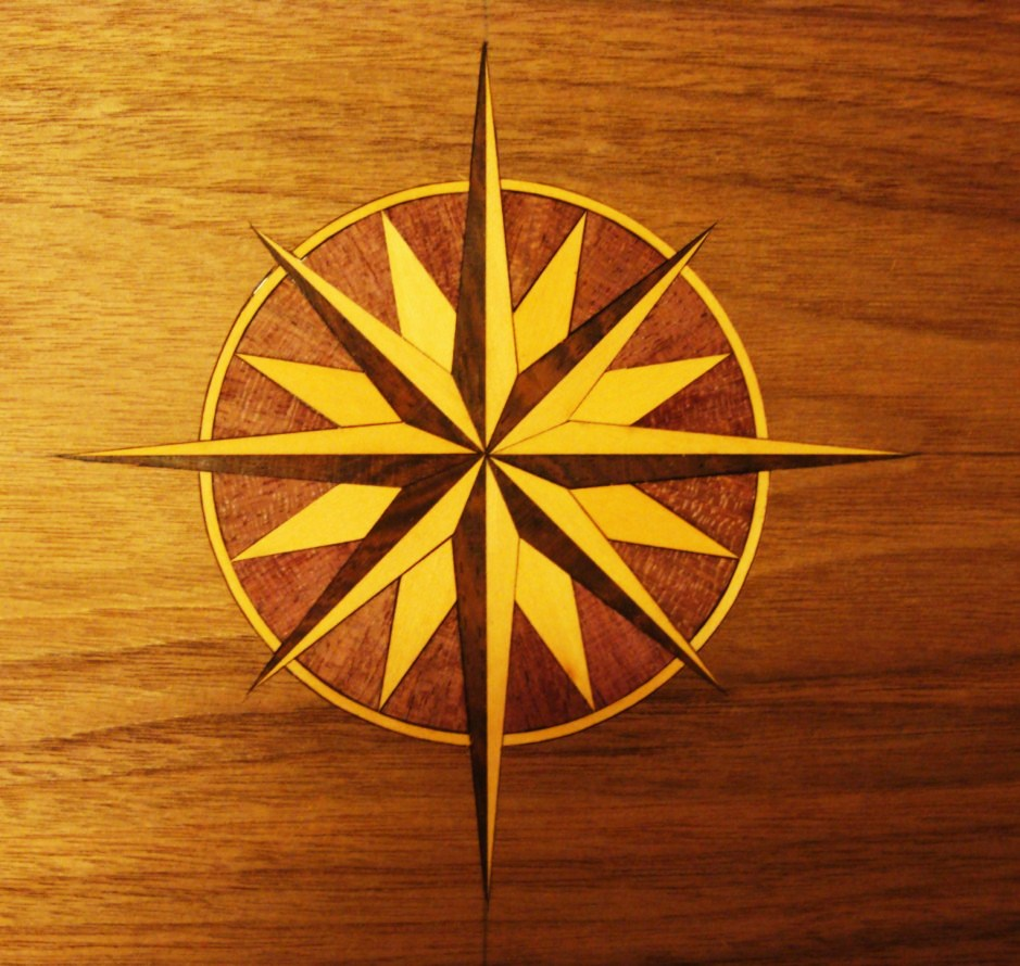 Simple Inlay Designs : Marquetry inlays fans shells