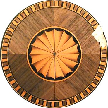 Circular or Round Marquetry Fan Inlay