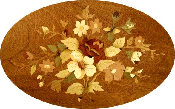 Fretsawn Marquetry Floral Motif