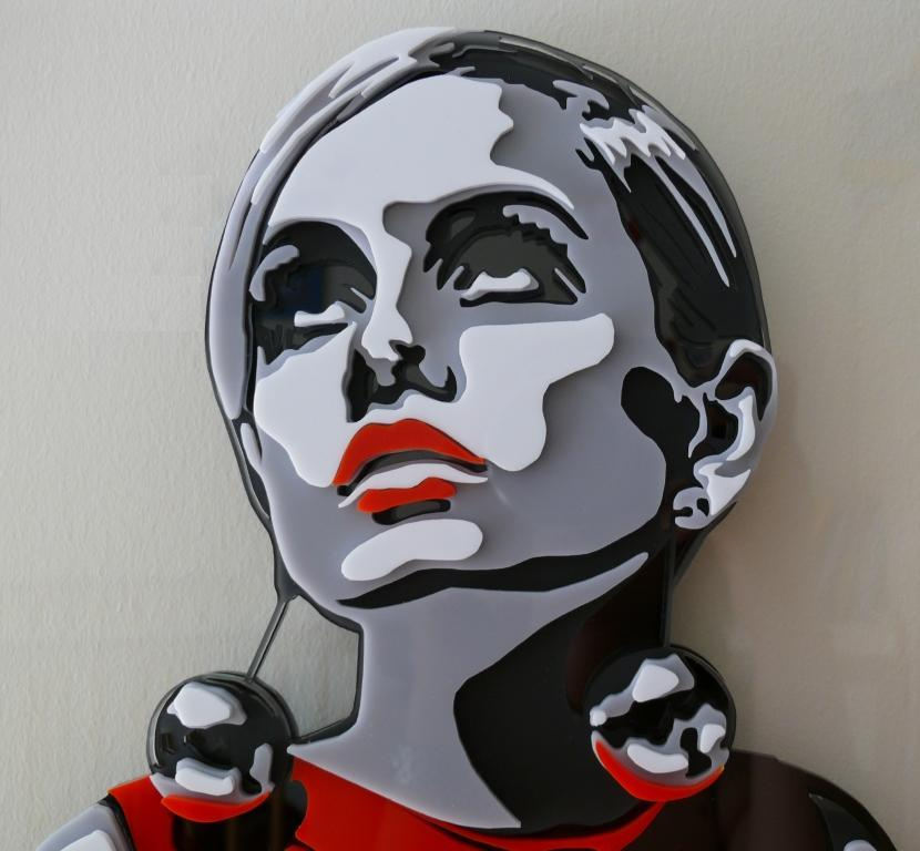 Twiggy - Multi layer Lasercut acrylic for Artist