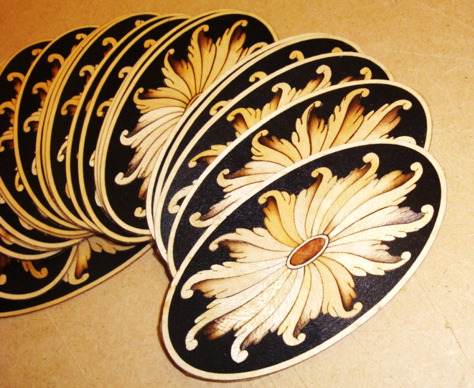 Inlay motifs for furniture can be made in small or large batches